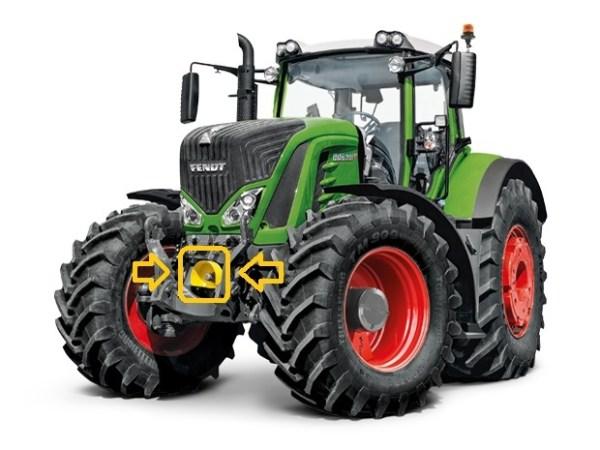 Toma de fuerza delantera tractor Fendt