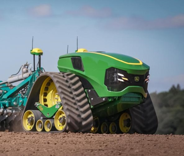Tractor autónomo John Deere, con motor eléctrico