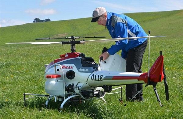 Dron fumigador Yamaha RMAX