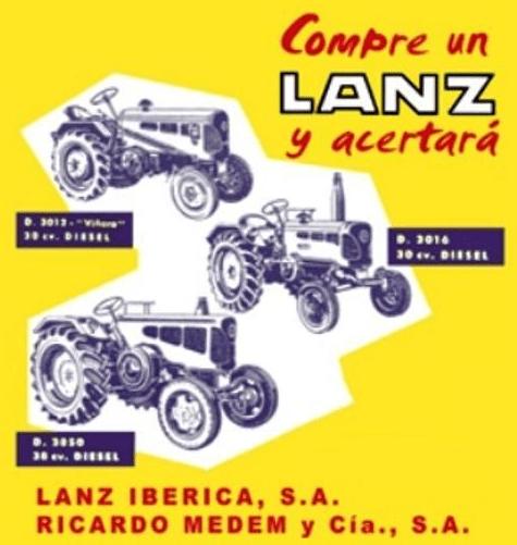 Cartel de tractores Lanz