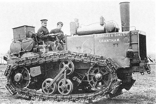 Uno de los primeros tractores oruga