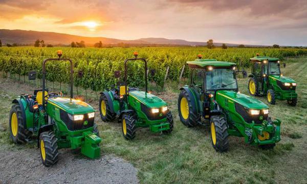 Tractores John Deere para arboricultura