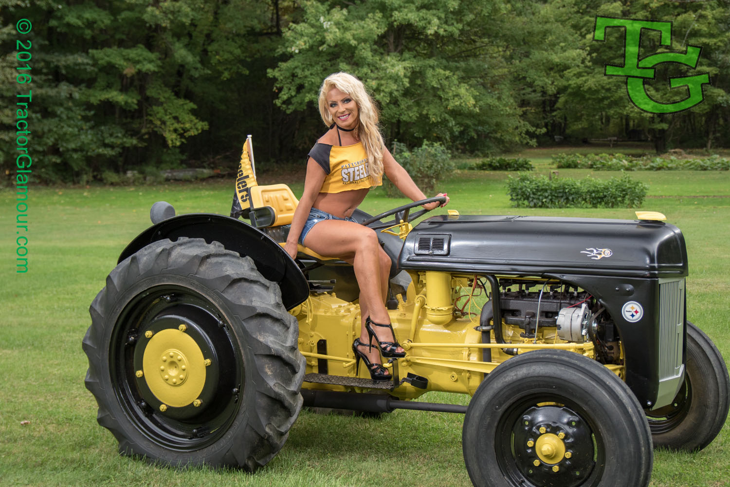 Naked farm girls on tractors