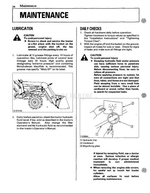 small resolution of kubota front loader la272 la302 la352 la402 operator manual