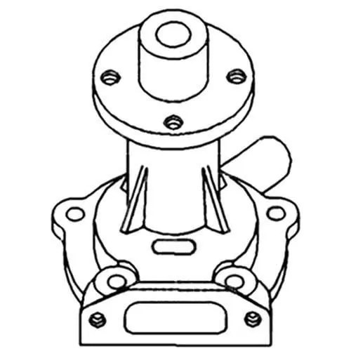 Water Pump Compatible with Allis Chalmers 185 74023912-R