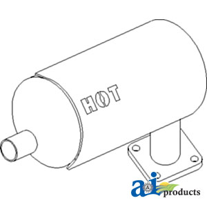 TP Parts 1 A-6C040-58404 Kubota MUFFLER Tractor Part For