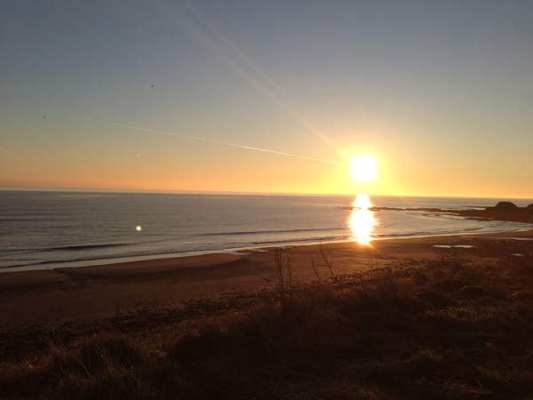 Druridge bay, Northumberland, sunrise, glamping
