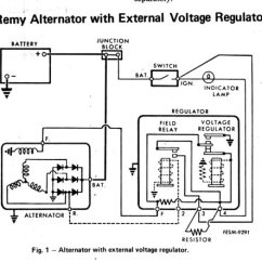 Delco Remy Alternator Diagram Perko Battery Switch Wiring For Boat Generator External Regulator Great Voltage Data Rh 17 1 Cafeinomano Co Ford 3 Wire