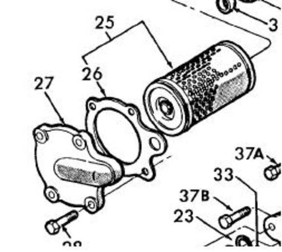 Ford 4000 tractor hydraulic filter location
