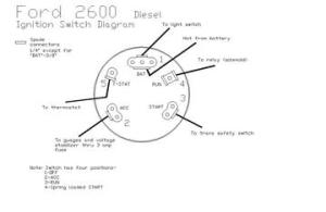 2600 Ford  Ingnition Switch Diagram  TractorShed
