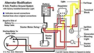 Ford 871 With Installed Generator Light  Alternator Wiring Diagram  TractorShed