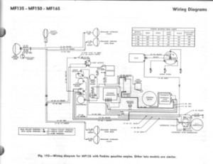 MF 135150165 Perkins  Wiring Diagram  TractorShed