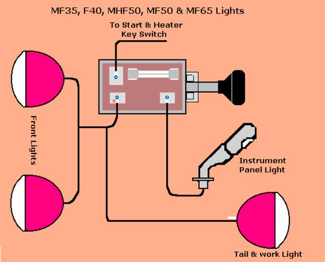 massey ferguson 35 wiring diagram car trailer australia to35 toyskids co 1961 mf need help voltag yesterday s tractors gas