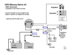 Massey Harris 22, Wiring Diagram  Massey Harris & Massey