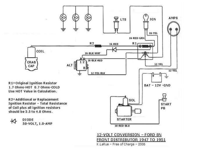 1952 ford 8n wiring diagram rj45 wall socket 12 volt conversion - yesterday's tractors