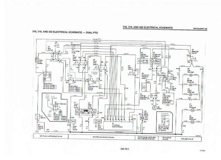 john deere 316 kohler wiring diagram truck camper time delay module yesterday s tractors third party image here a