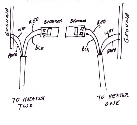 Wire Diagram For One Pole Electric Baseboard Heaters : 52