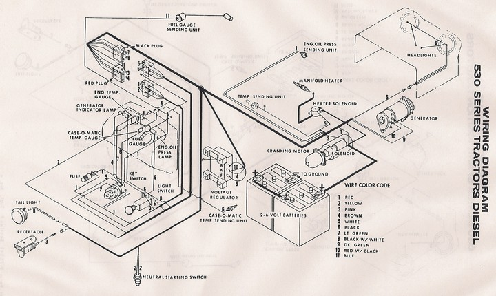 Farmall 460 Gas Wiring Diagram Case 530 Wiring Diagram Yesterday S Tractors