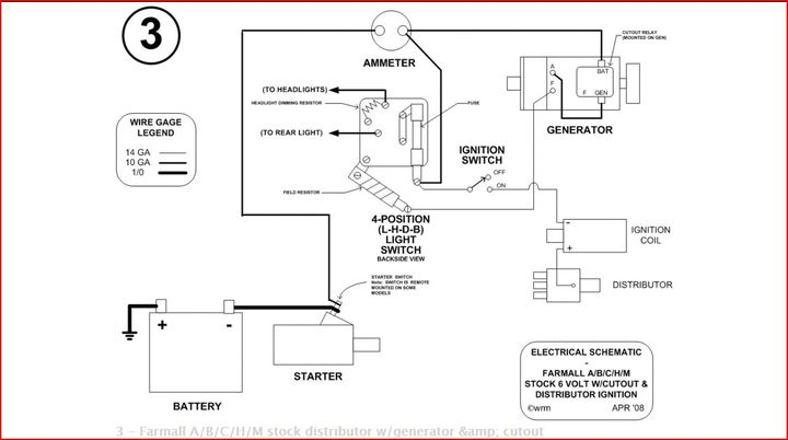 john deere 140 wiring diagram dual battery system boat farmall h generator will not charge - & international harvester (ihc)