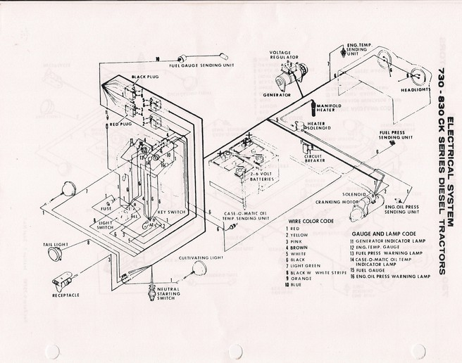 case 1070 wiring diagram. Black Bedroom Furniture Sets. Home Design Ideas