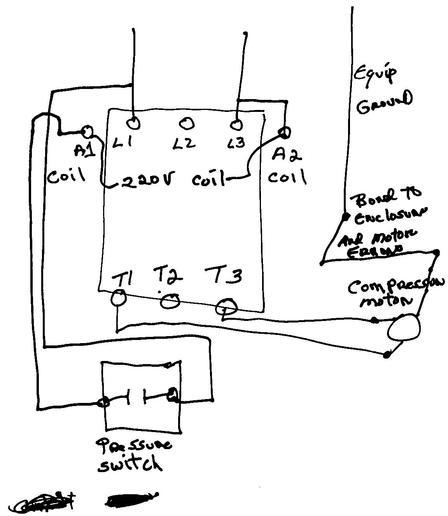 air compressor 240 volt wiring diagram