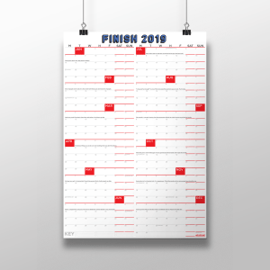 The Finish Calendar Portrait