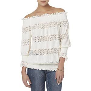 Simply Styled Women's Off-the-Shoulder Peasant Top