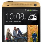 Gold HTC One - Front