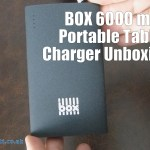 BOX 6000 mAh Portable Tablet Charger Unboxing