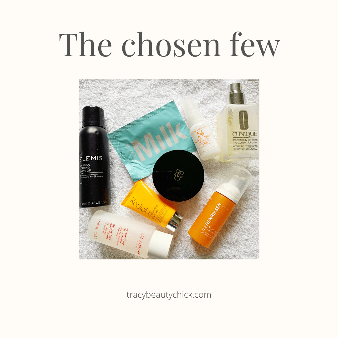 Selection of favourite empty products