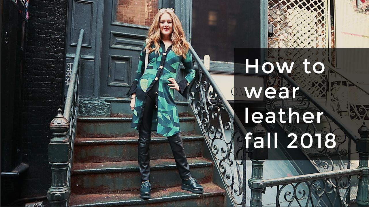 7a6eee2838d6 How to wear leather fall 2018 for women over 40 - Tracy Gold Fashion Tips