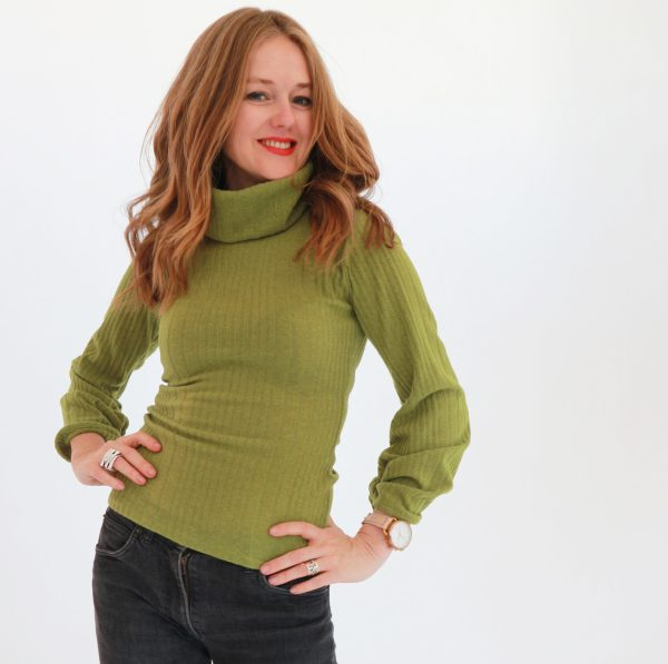 Tracy Gold Collection Chartreuse sweater 1