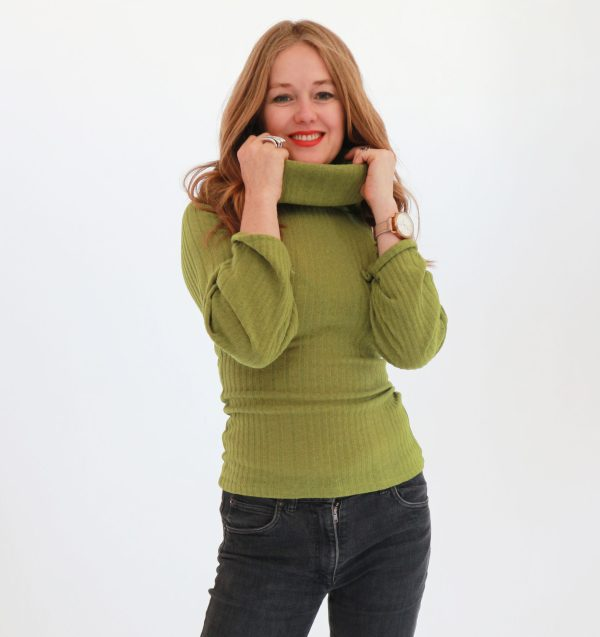 Tracy Gold Collection Chartreuse sweater 3