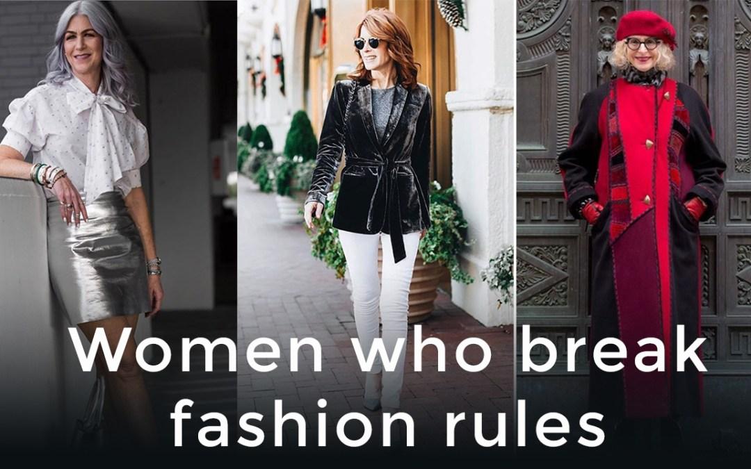 Women who break fashion rules for women over 40