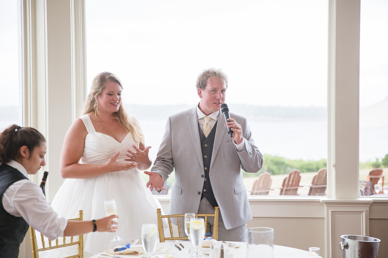 toasts, wedding reception, reception, ocean cliff wedding, wedding, tracy jenkins photography, wedding photography, beach wedding, newport wedding, ocean cliff, rhode island