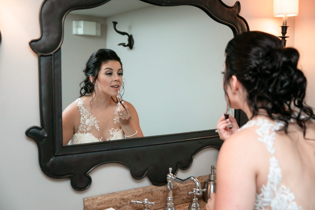 Bride, getting ready, final touches, Tracy Jenkins Photography, Harbor Lights, Warwick, Rhode Island, RI, New England, Wedding, Photography