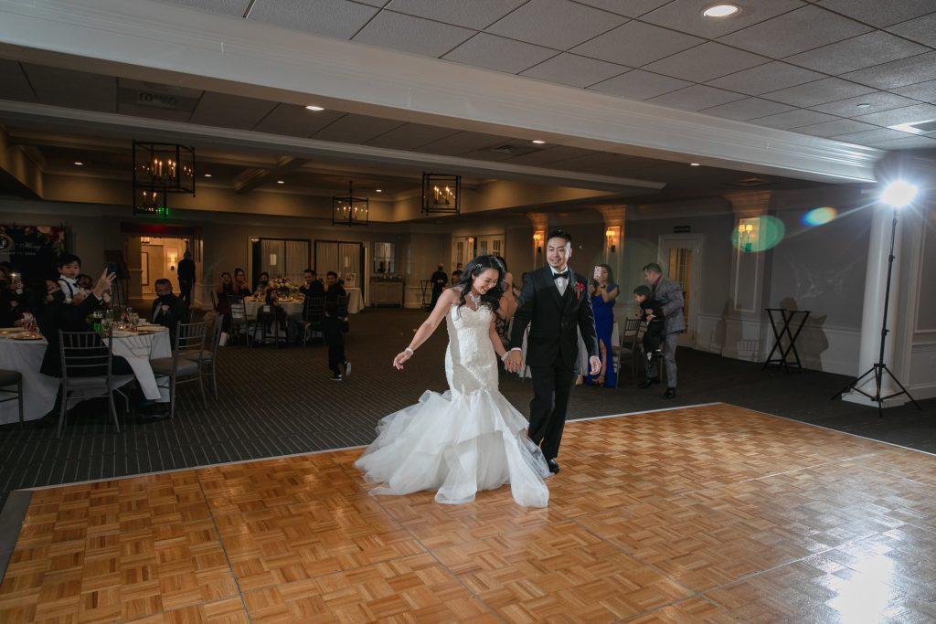 Harbor lights, warwick, rhode island, RI, Tracy Jenkins Photography, RI wedding photographer, Rhode Island wedding photographer, micro-wedding, grand entrance, wedding reception