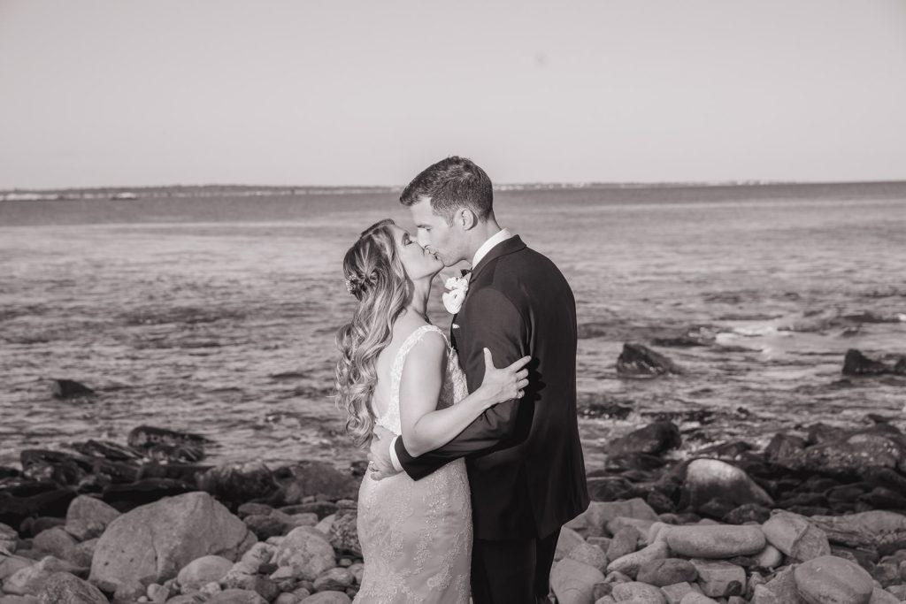 Wedding, Narragansett Towers, The Towers, Narragansett, Rhode Island, RI, Tracy Jenkins photography, RI wedding photographer, Rhode Island wedding photographer, couple photos, bride, groom, kissing
