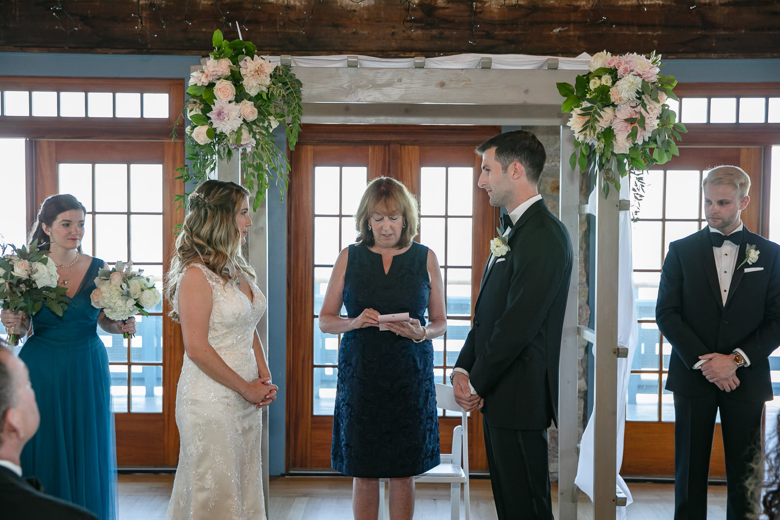 Wedding, Narragansett Towers, The Towers, Narragansett, Rhode Island, RI, Tracy Jenkins photography, RI wedding photographer, Rhode Island wedding photographer, wedding ceremony