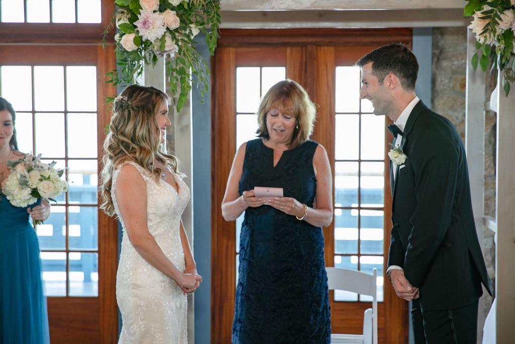 Wedding, Narragansett Towers, The Towers, Narragansett, Rhode Island, RI, Tracy Jenkins photography, RI wedding photographer, Rhode Island wedding photographer, wedding ceremony, indoor ceremony