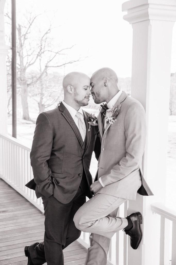Eisenhower House, Newport, Rhode Island, Tracy Jenkins Photography, wedding, LGBTQ+, LGBT, Gay, Inclusive, Photography, Wedding photography, groom, grooms, portraits