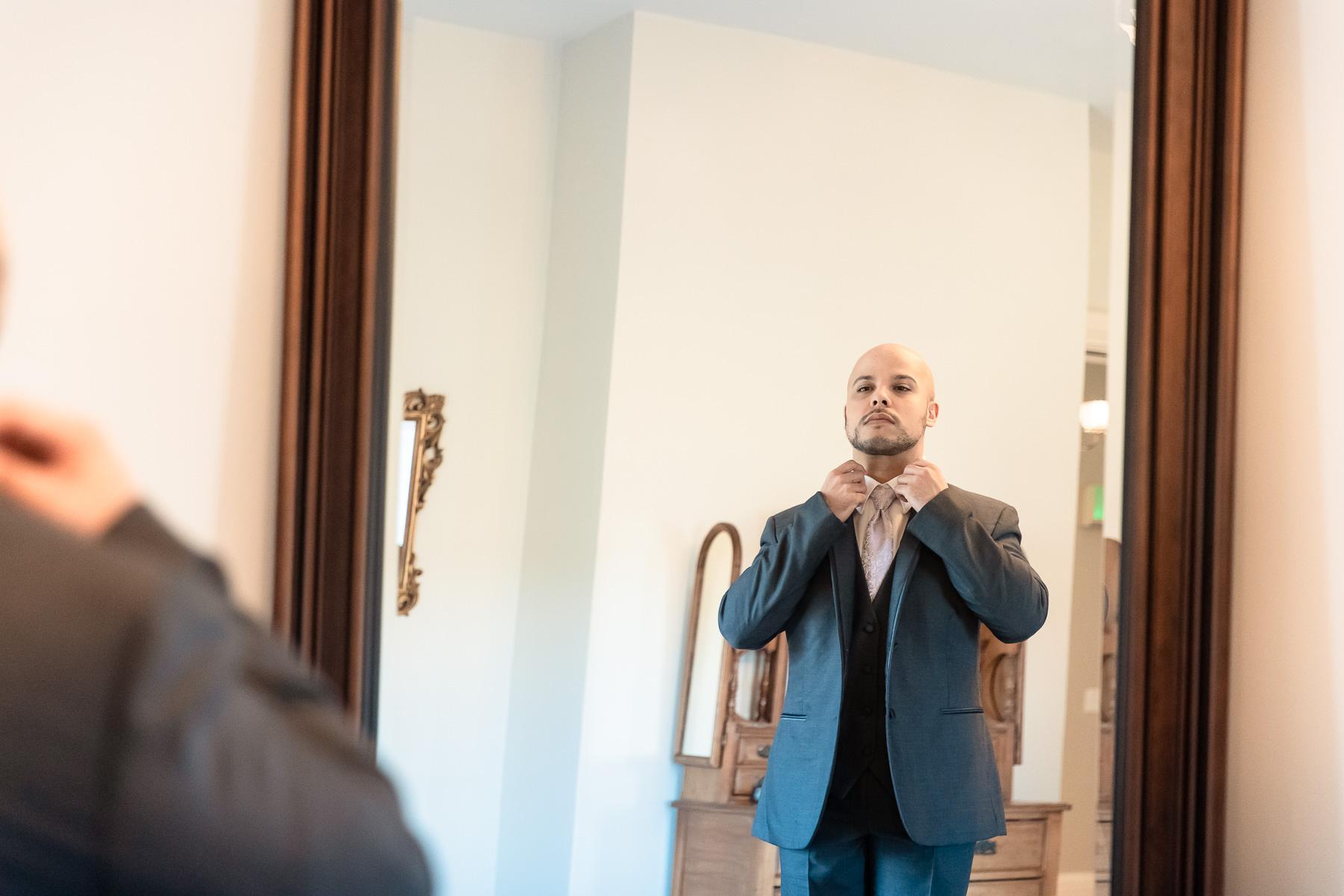 Eisenhower House, Newport, Rhode Island, Tracy Jenkins Photography, wedding, LGBTQ+, LGBT, Gay, Inclusive, Photography, Wedding photography, getting ready, tux, tie