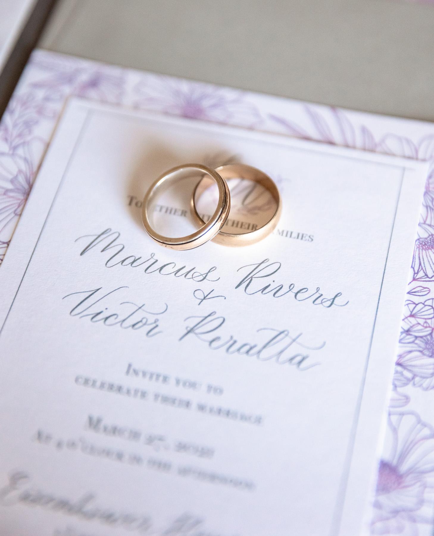 Eisenhower House, Newport, Rhode Island, Tracy Jenkins Photography, wedding, LGBTQ+, LGBT, Gay, Inclusive, Photography, Wedding photography, invitation, rings, lavender grey