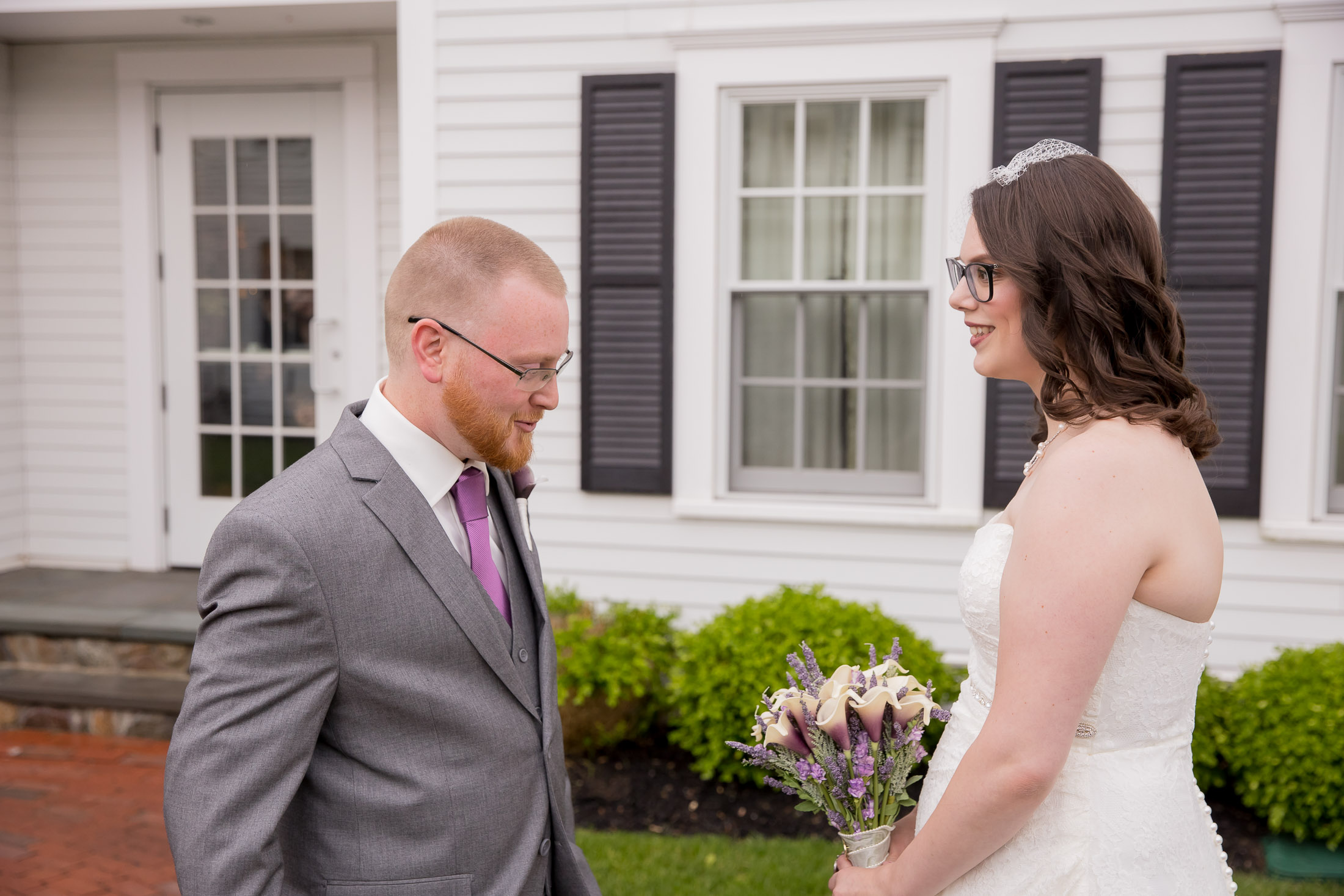 first look, wedding, tracy jenkins photography, publick house, Massachusetts, new england,  photography