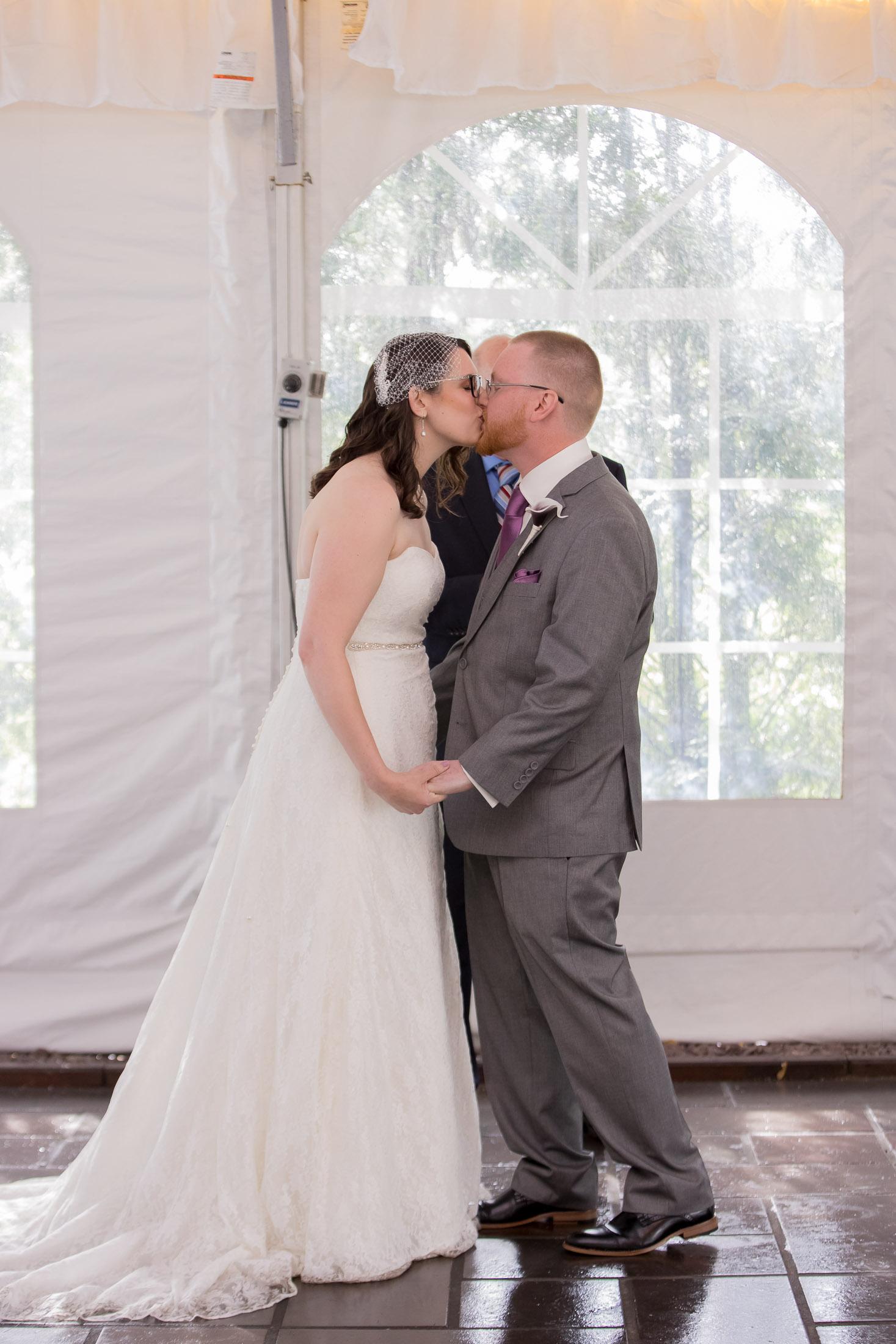 kiss, ceremony, wedding, tracy jenkins photography, publick house, Massachusetts, new england,  photography