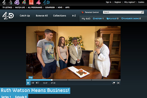 Tracy Kiss Reviewing For Channel 4's Ruth Watson Means Business