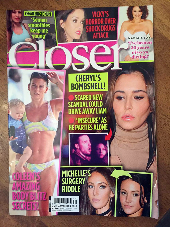 Tracy Kiss For Closer Magazine