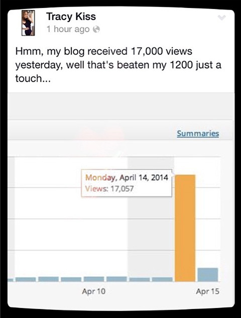 My Blog Has Received Over 17,000 Views In One Afternoon
