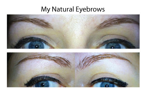 Here Are My Eyebrows As They Are Naturally