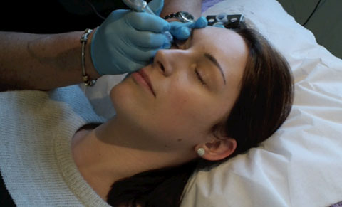 Having The First Treatment Of Semi-Permanent Eyeliner Tattoo